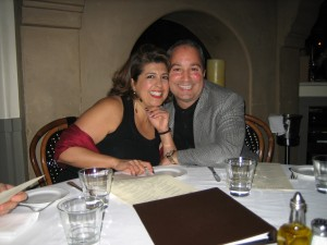 Dr. Santucci and his wife at Don Giovanni's